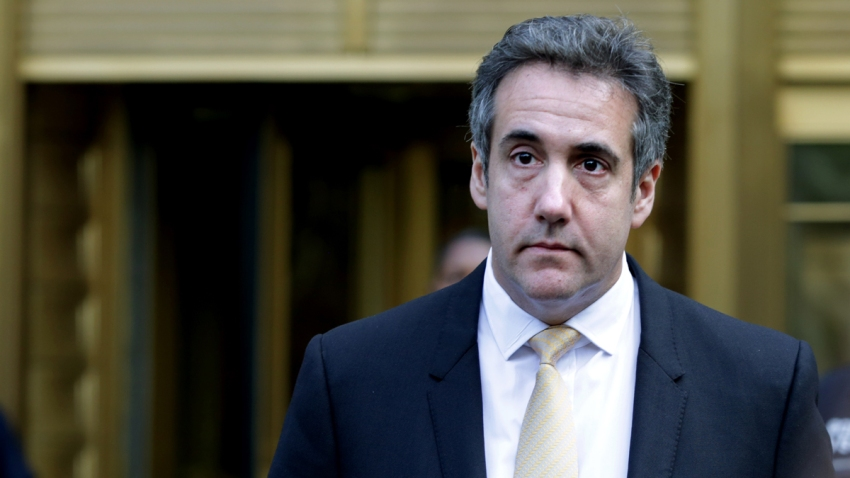 In this Aug. 21, 2018, file photo, Michael Cohen, former lawyer to U.S. President Donald Trump, exits the Federal Courthouse in New York City.