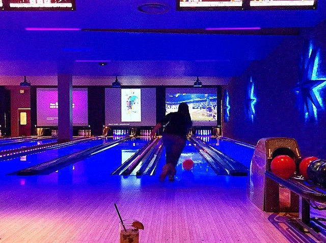 [phillygram] A little afternoon bowling never hurt anyone. Lucky Strike in Center City #PHL features an excellent happy hour menu to help quench that work week thirst. #discoverPHL @luckystrikeph