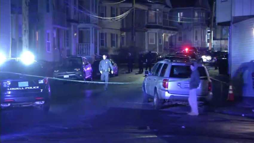 A 26-year-old man was hospitalized on Tuesday, Jan. 14, 2020 following a shooting in Lowell, Massachusetts.