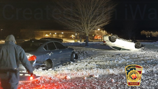 """A driver was cited with """"several motor vehicle offenses"""" following an overnight crash on Wednesday, Jan. 22, 2020."""