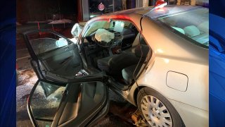 One person suffered life-threatening injuries on Wednesday, Dec. 25, 2019 after their vehicle crashed into an Applebee's restaurant in Derry, New Hampshire.