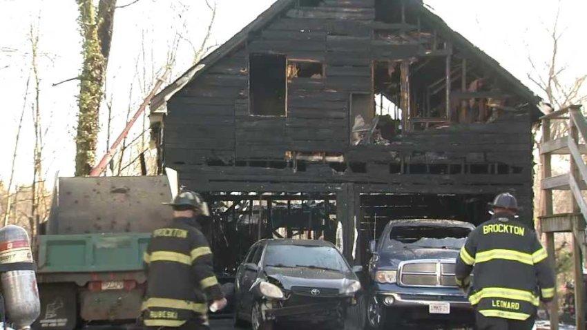 Brockton garage fire