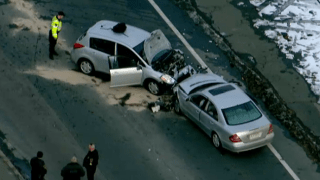 One man was killed and two others were injured on Thursday, Jan. 23, 2020 in a car crash in Rockland, Massachusetts.