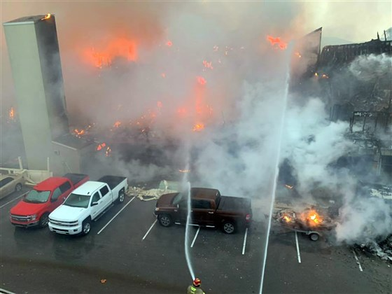 Firefighters are fighting a structure fire in South Padre Island.