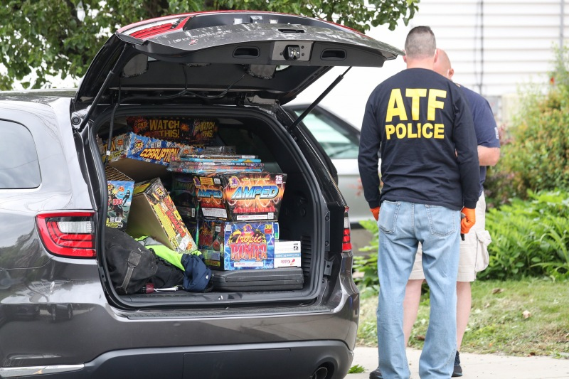 Exclusive Photos: Malden Fireworks Bust