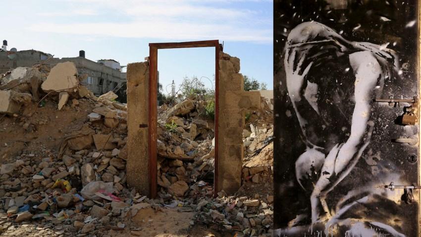 Mideast Palestinians Banksy
