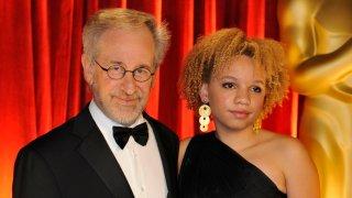 Steven Spielberg and Mikaela George Spielberg