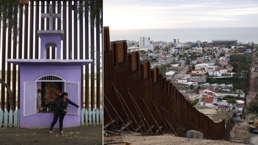 Border Wall View from Mexico