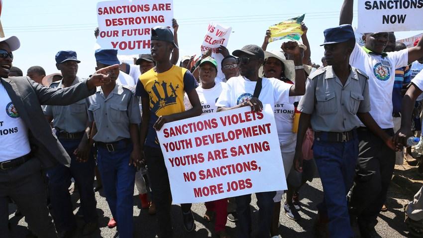 Zimbabwe Anti Sanctions Demonstration