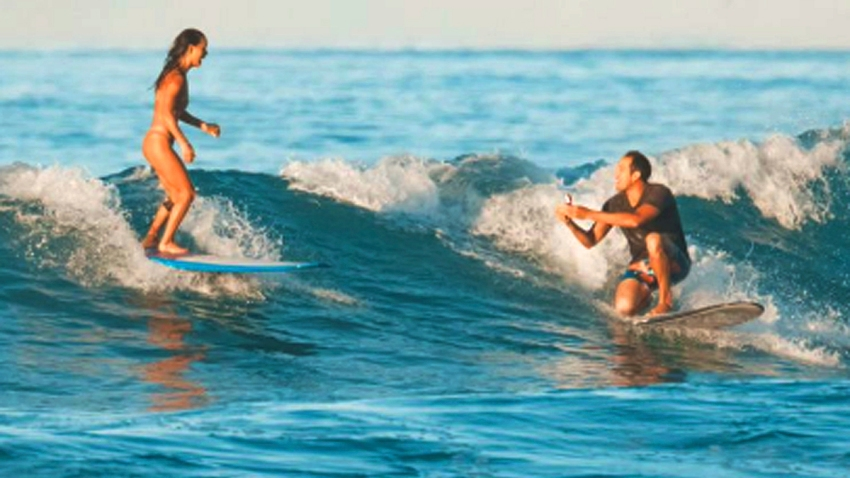 ODD Surfing Marriage Proposal