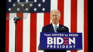 Democratic presidential candidate, former Vice President Joe Biden, speaks Tuesday, June 30, 2020, in Wilmington, Del.