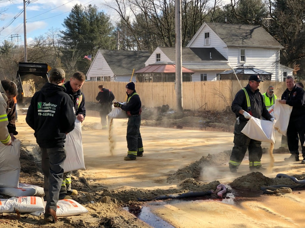 Billerica truck crash cleanup