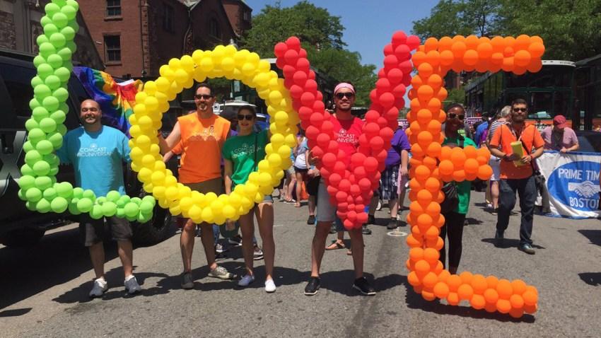 Boston Pride 2017 balloons