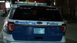 Brookline police cruiser