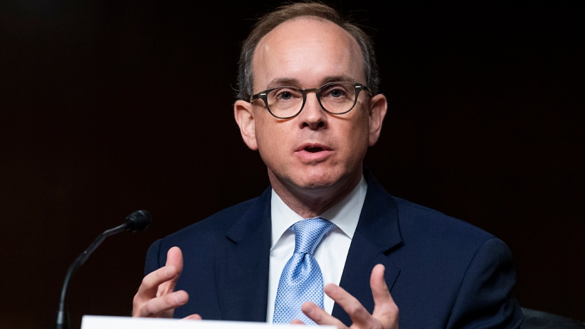 Cory Wilson, nominee for circuit judge for the Fifth Circuit Court of Appeals, testifies during his Senate Judiciary Committee confirmation hearing in Dirksen Building, May 20, 2020.