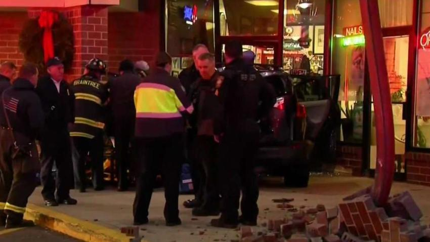 'She Was Coming Straight at Me': Car Crashes Into Braintree Barbershop