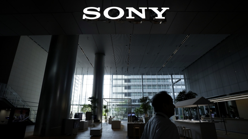 The Sony Corp. logo is displayed at the company's headquarters in Tokyo, Japan