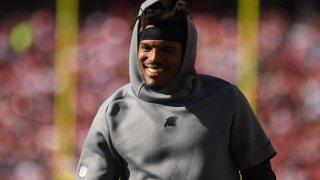 Cam Newton smiling