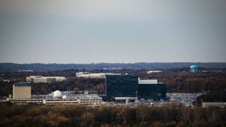 The National Security Agency campus is seen in this aerial photograph taken above Fort Meade, Maryland, on Nov. 4, 2019.