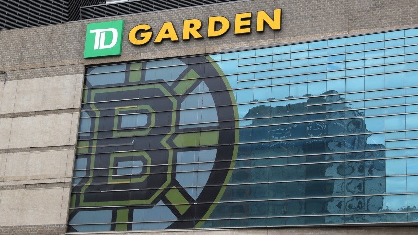 A view outside of TD Garden, the venue that hosts the Boston Bruins and Boston Celtics on March 12, 2020 in Boston, Massachusetts.