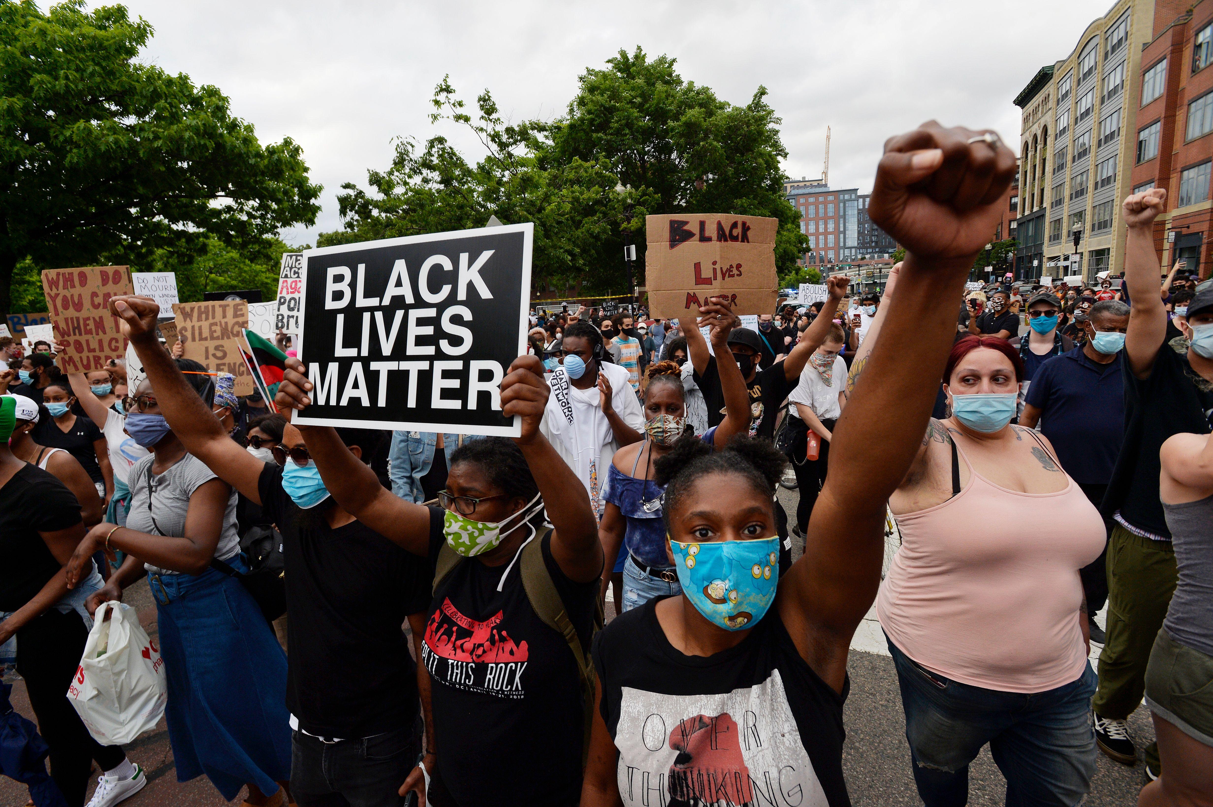Photos Protesters Police Clash In Boston Nbc Boston