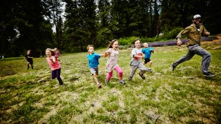 campers playing tag