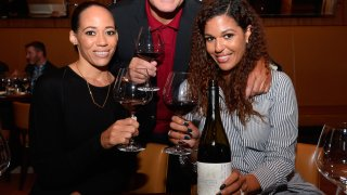 (L-R) McBride Sisters Wine Co-Owner Robin McBride, chef Francois Payard and McBride Sisters Wine Co-Owner Andrea McBride