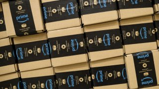 File photo of Amazon packages