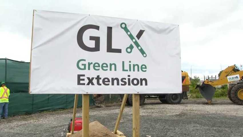 Green Line Extension sign