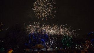 Fireworks at Boston First Night 2019