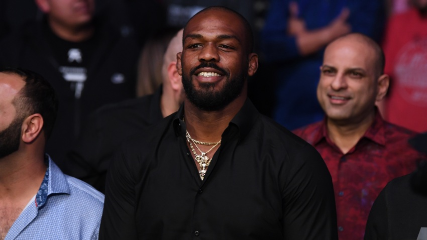 In this file photo, UFC Light Heavyweight Champion Jon Jones looks on after Jan Blachowicz of Poland defeats Corey Anderson by KO in their light heavyweight bout during the UFC Fight Night event at Santa Ana Star Center on February 15, 2020 in Rio Rancho, New Mexico.