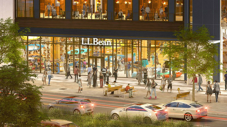 LL Bean Boston Render