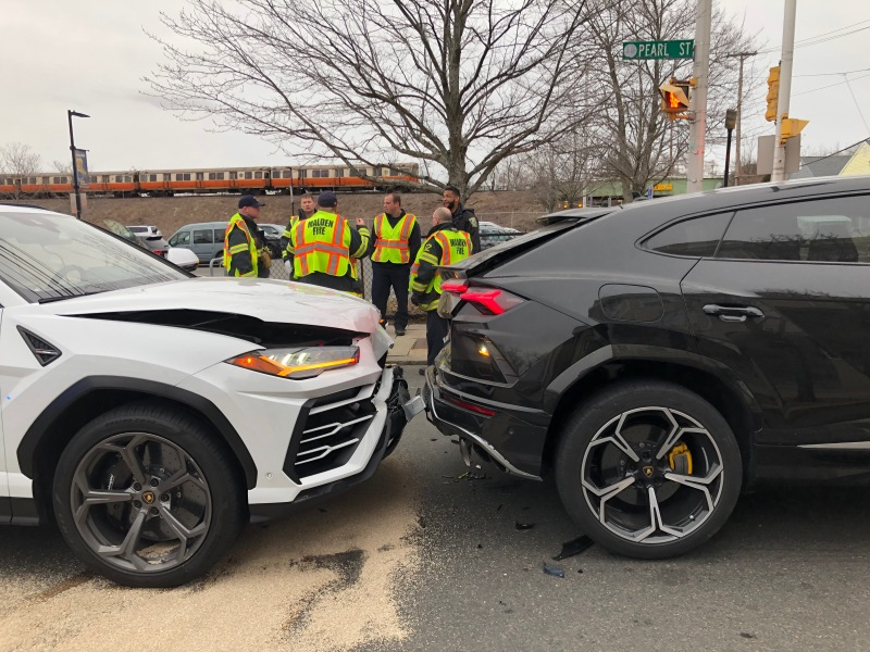 Stolen Lamborghinis Recovered in Malden Crash