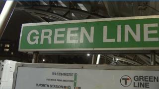 MBTA green line sign