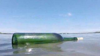 Maine Spain Message Bottle