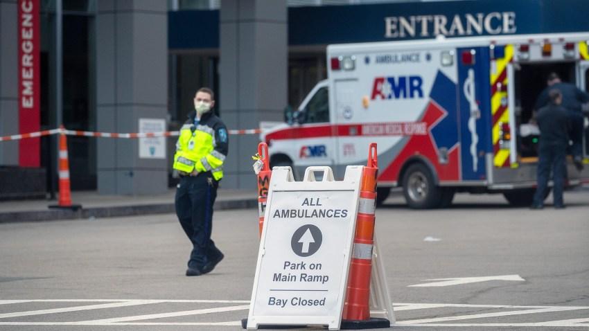 Outside Massachusetts General Hospital