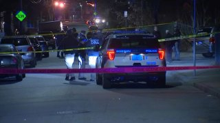 Police respond to a shooting in Mattapan.