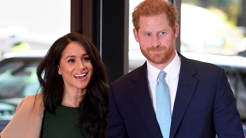 In this Oct. 15, 2019, file photo, Prince Harry, Duke of Sussex and Meghan, Duchess of Sussex, attend the WellChild awards at Royal Lancaster Hotel in London, England.