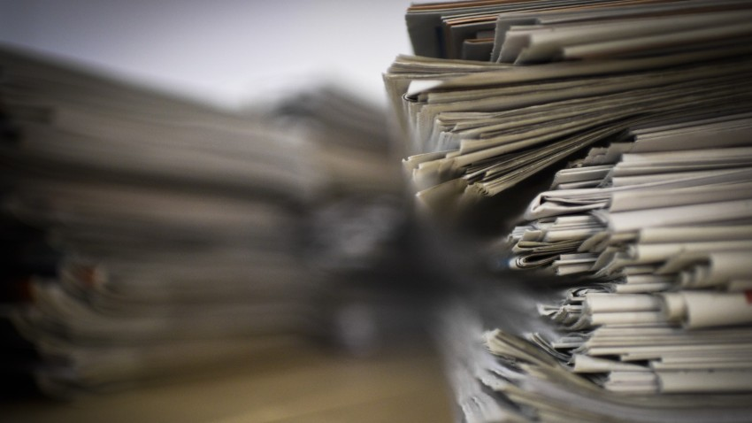 File image of newspapers.