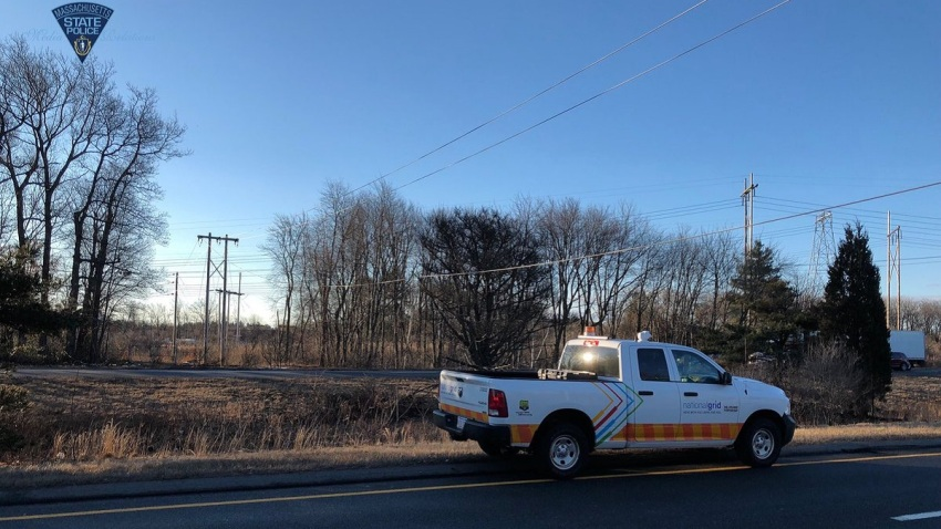Route 495 closed with wires down DONE