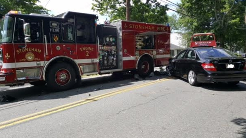 Stoneham fire truck vs car