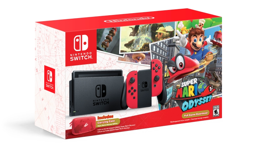 Nintendo Switch Super Mario Odyssey Edition Bundle