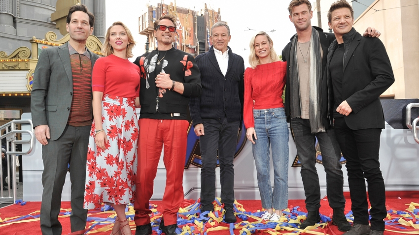 """Avengers: End Game"" Photo Op at Disneyland Resort"