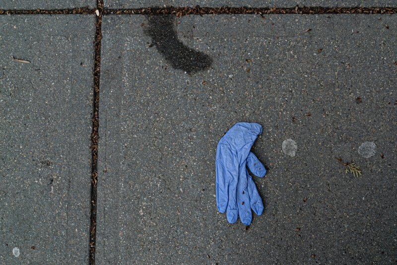 Photos: Empty Boston Streets Filled With Discarded Gloves, Supplies During Coronavirus Outbreak