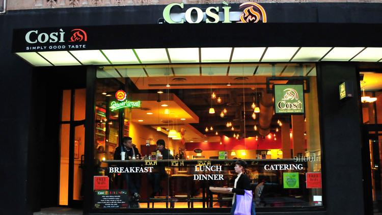 cosi declining sales pope