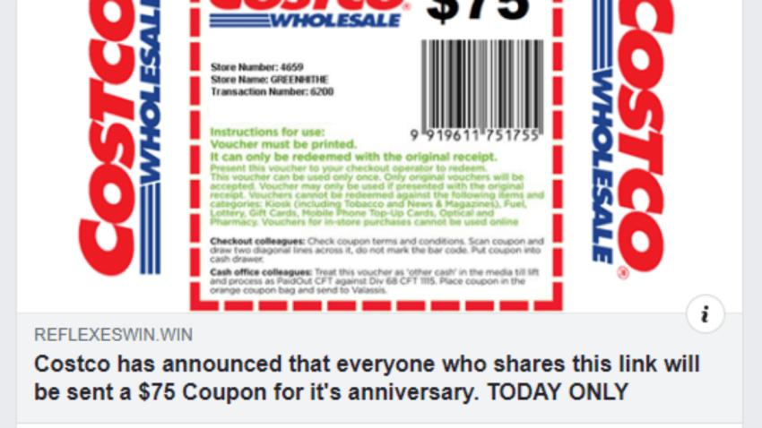 costco coupon screenshot
