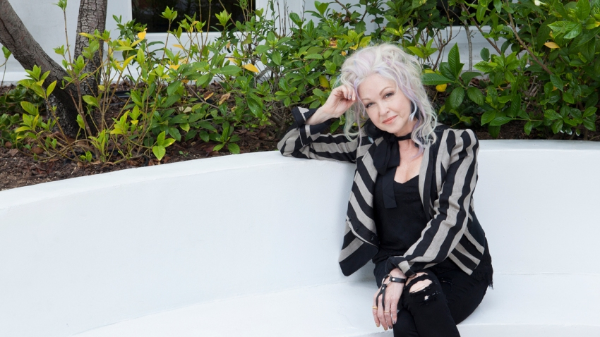 APTOPIX Cyndi Lauper Portrait Session