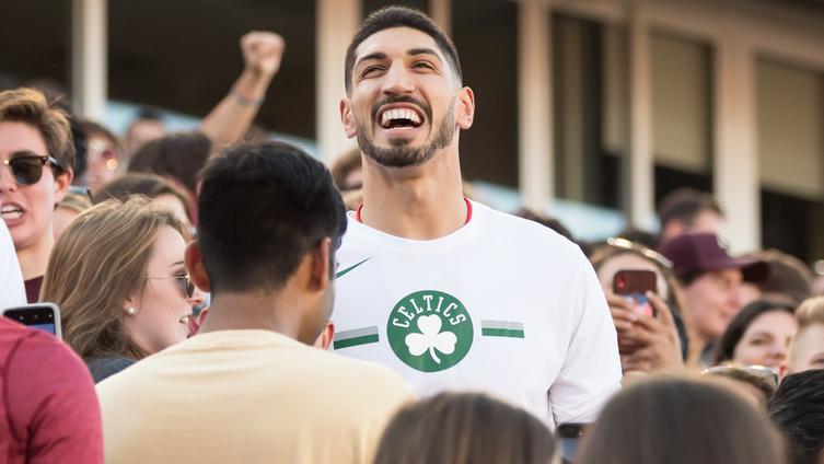[NBC Sports] Enes Kanter starts snowball fight with Tacko Fall, Celtics teammates