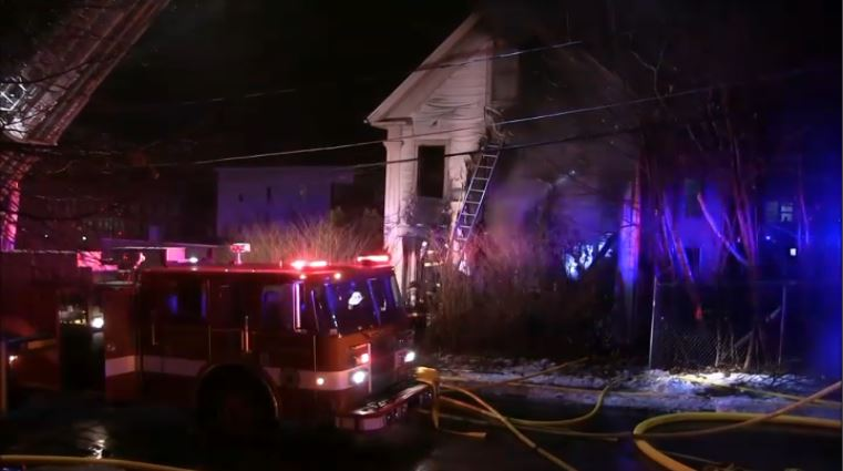 Two people were killed in a 2-alarm fire at 15 Highland Ave. in Fitchburg, Mass.