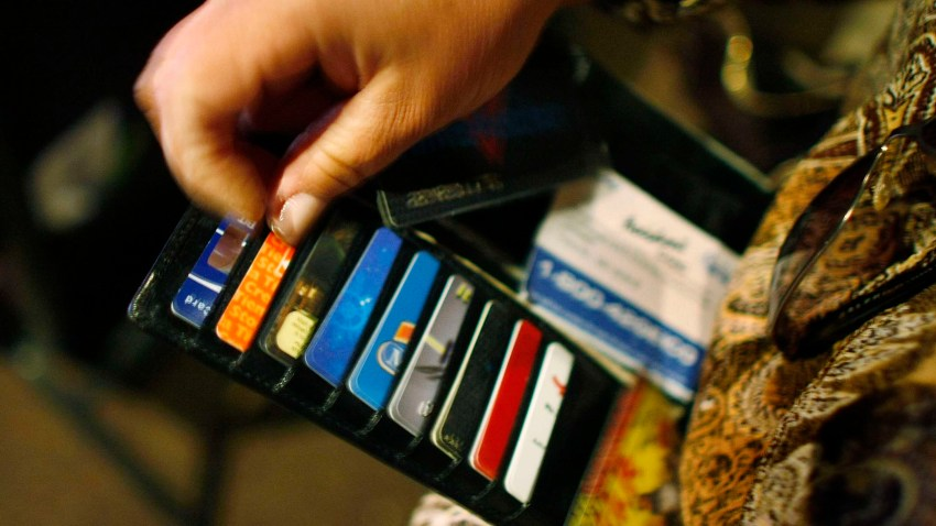 A file photo of someone's credit cards.
